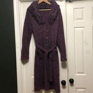 Full Length Magenta Wool Cardigan Size S/M